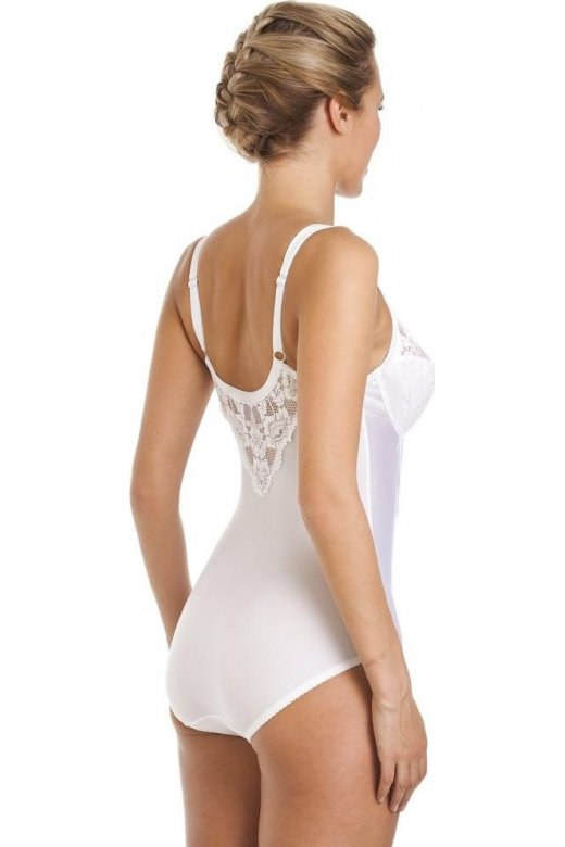 8a3c1cd6c6c1c Camille White Underwired Non Padded Floral Lace Shapewear Body