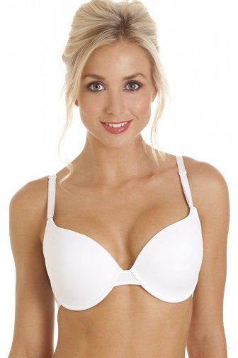 White Underwired Seamless T-Shirt Multiway Padded Bra