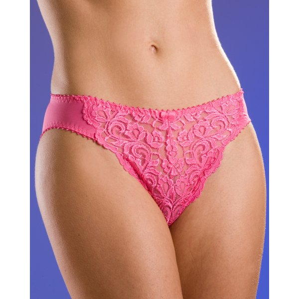 b4d38f721b6d97 New Ladies Camille Pink Lace Mesh Womens Lingerie Knickers Briefs Sizes  10-20