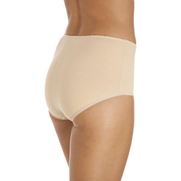 27232bab0c9df Camille Womens Beige Cotton Control Shapewear Underwear Briefs