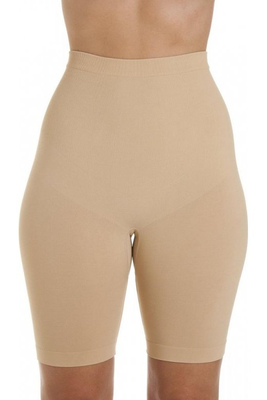 Camille Womens Beige Seamfree Shapewear Control Thigh Slimmer Support Briefs