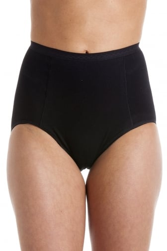 Womens Black High Waist Two Pack Control Briefs