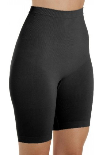 Womens Black Seamfree Shapewear Control Thigh Slimmer Support Briefs
