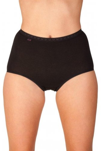 Womens Black Three Pack Cotton Maxi Briefs