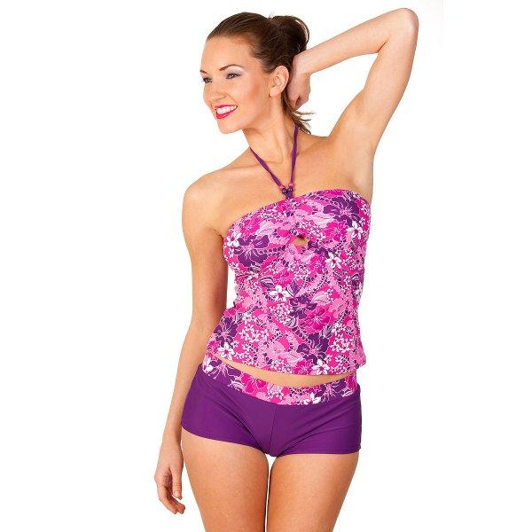 6ac5fd5cb05a9 New Seasons Camille Womens Floral Swimwear Ladies Bandeau Tankini ...
