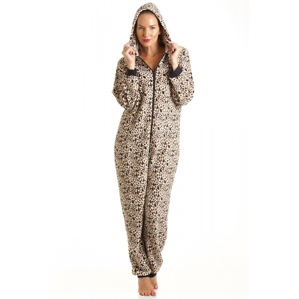 Camille Womens Ladies Luxury Brown Leopard Print Hooded ...
