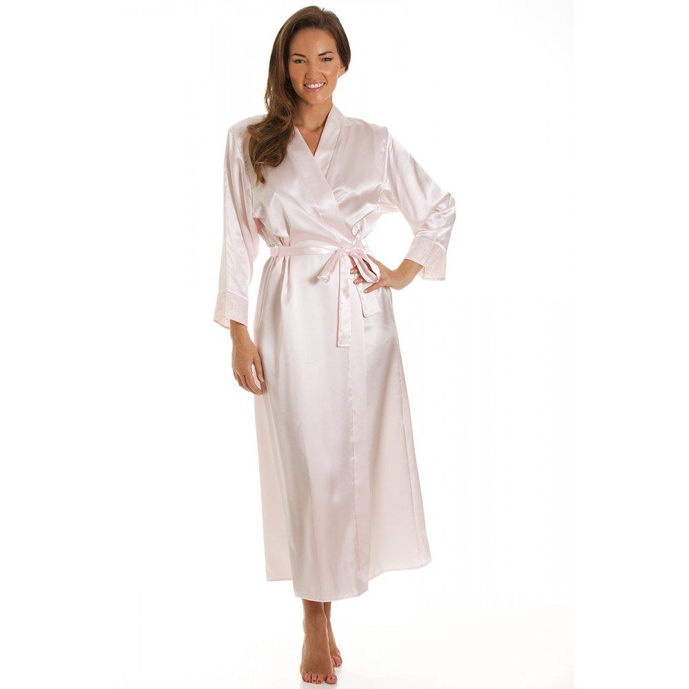 Wedding Satin Robes similiar womens long satin robes keywords camille ladies luxury pink bath robe wrap 10 20