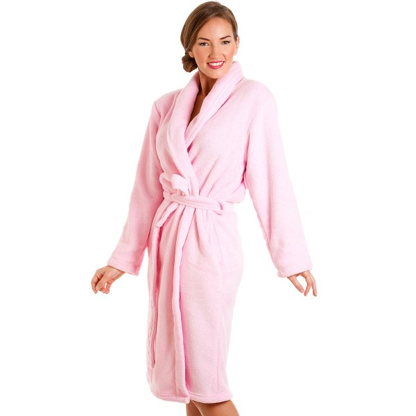 Womens Pink Bath Robe