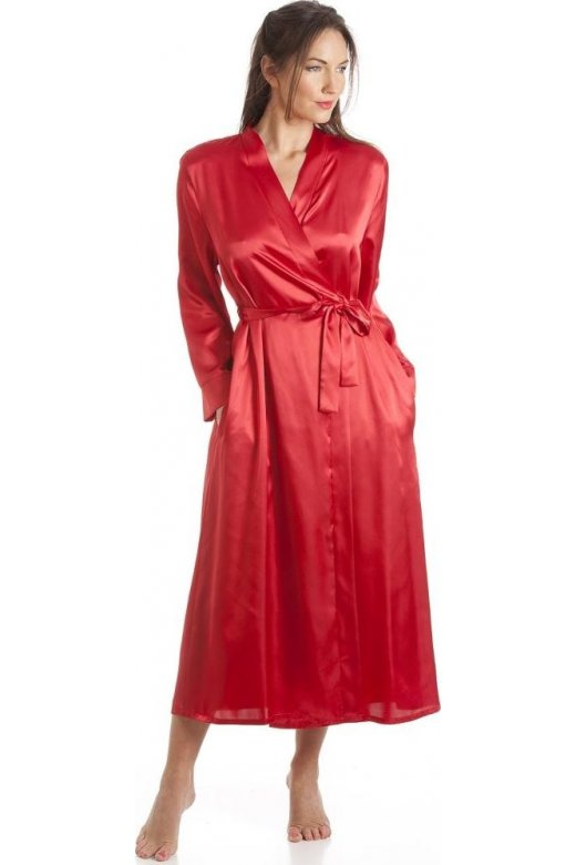 Camille Womens Ladies Luxury Red Satin Wrap