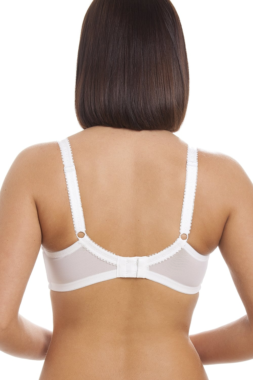 Camille Womens Ladies Lingerie Underwear White Jessica Full Cup Underwired Bra