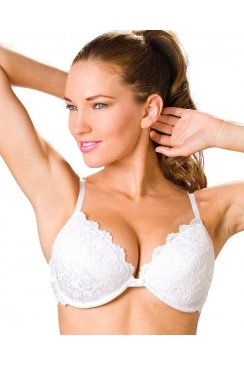 Camille Womens Ladies White Push Up Plunge Padded Underwired Bra