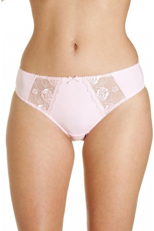 Camille Womens Light Pink Jessica Lace Embroidery Briefs