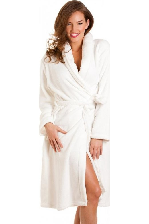 Womens White Bath Robe e0dc06956