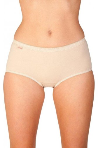 Womens Midi Brief Three Pack Beige
