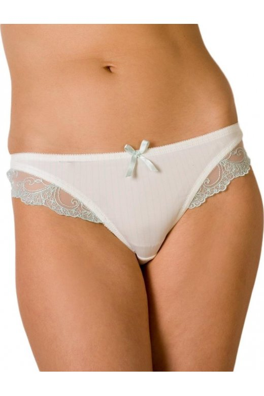 Camille Womens Mint Lace Satin Sheer Lingerie Thong