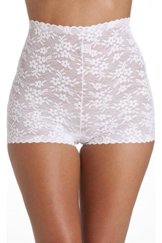 Camille Womens White High Waist Floral Lace Short