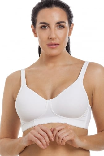 Womens White Soft Moulded Non Wired Full Cup Bra