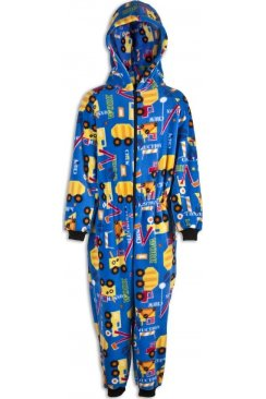 Childrens Unisex Digger All In One Pyjama Onesie