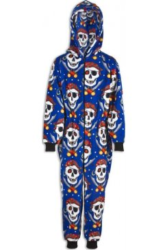 Childrens Unisex Pirate Skull All In One Pyjama Onesie