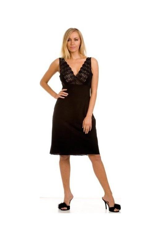 Classic Black Nightwear Chemise Full Slip