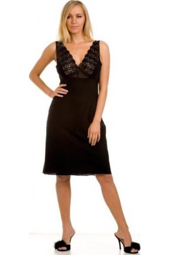Classic Black Nightwear Chemise Full Slip