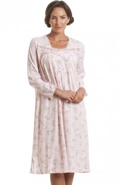 Classic Pink Floral Long Sleeve Nightdress