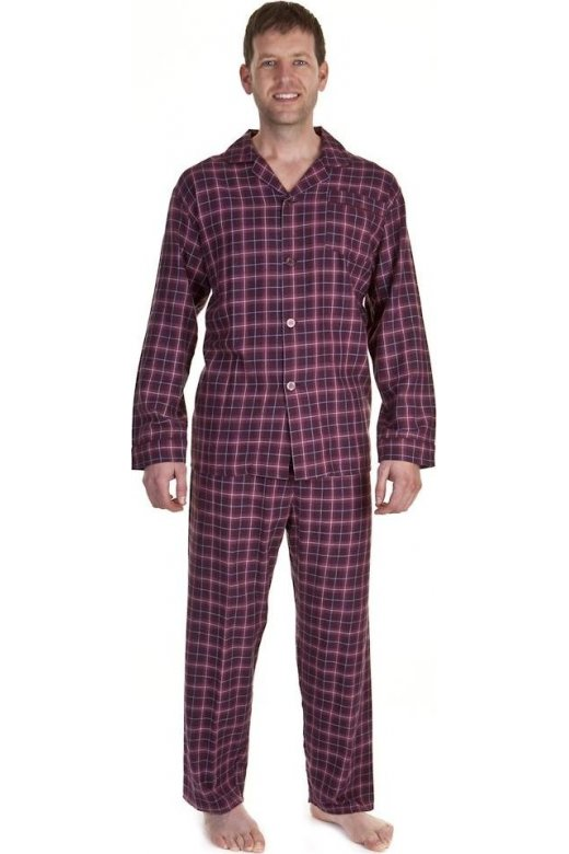 Camille Classic Mens Brushed Cotton Red Checked Pyjama Sets Size M-XXL 3f99c05dc