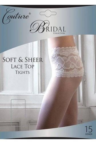 Couture Luxury Bridal Collection Sheer Lace Top Tights