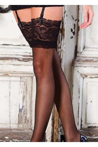 Couture Vixen Range Sheer Lace Top Stockings