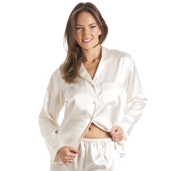 90e07d76cb Camille Cream Satin Pyjama Set