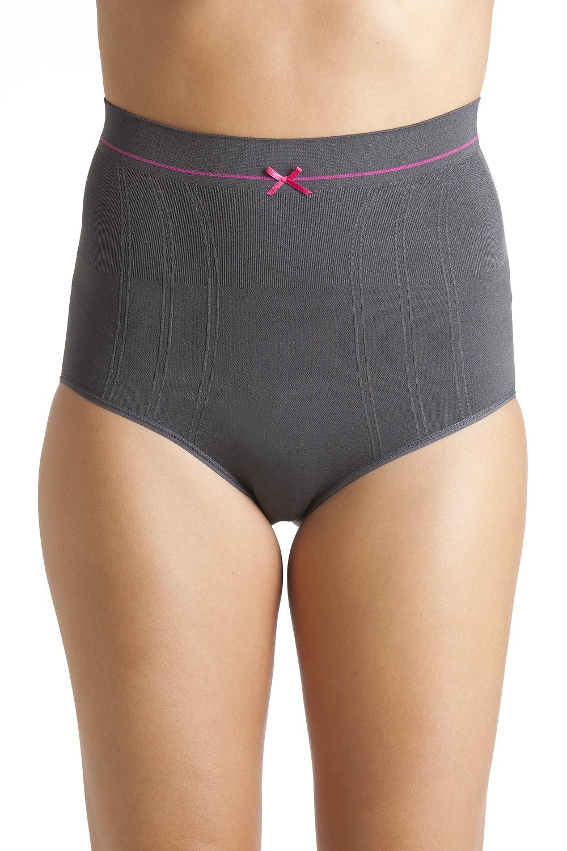 6ffb749489037 Camille Dark Grey Seam Free High Waist Shapewear Control Briefs