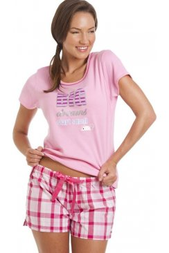 Dreams Pink And White Short Pyjama Set
