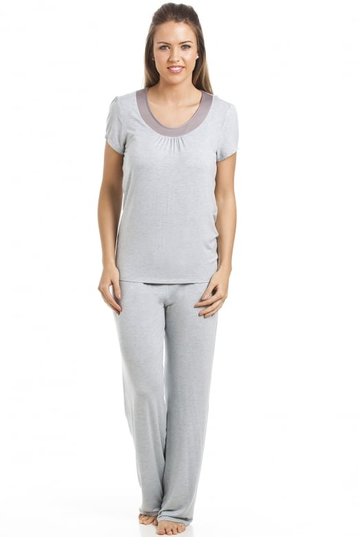 Grey Full Length Modal Pyjama Set