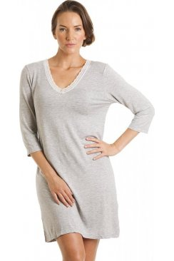 Grey Knee Length Nightdress