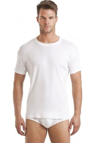 Haigman Three Pack White Crew Neck T-Shirt