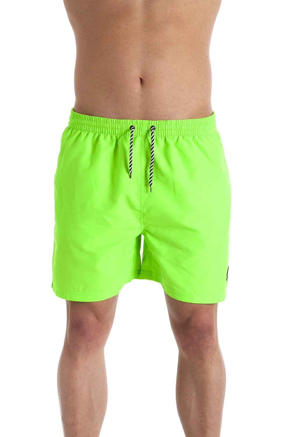 32a68977fb INDIAN AFFAIRS Mens Neon Green Swimming Shorts