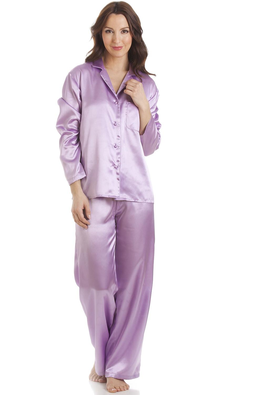 ab3016c09e291 Light Purple Satin Full Length Pyjama Set