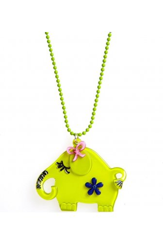 Lime Green Elephant Necklace