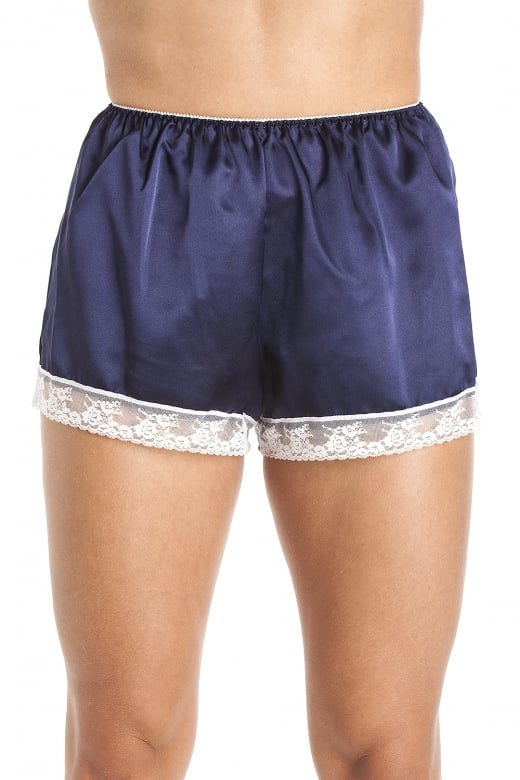 Luxury Blue Satin French Knicker Shorts