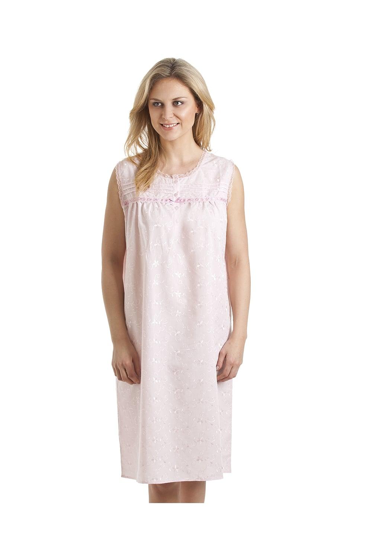 Luxury Embroidered Pink Sleeveless Nightdress cfee4b30e