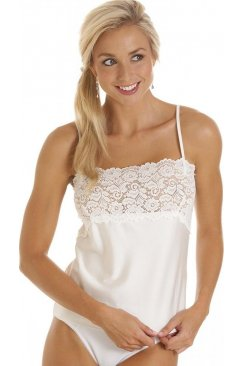 Luxury Ivory Camisole Lace Trim Top