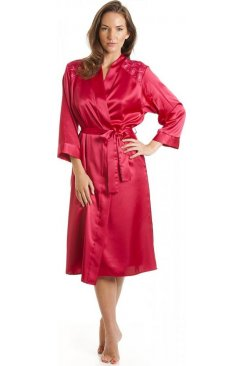 Luxury Pink Satin Bath Robe
