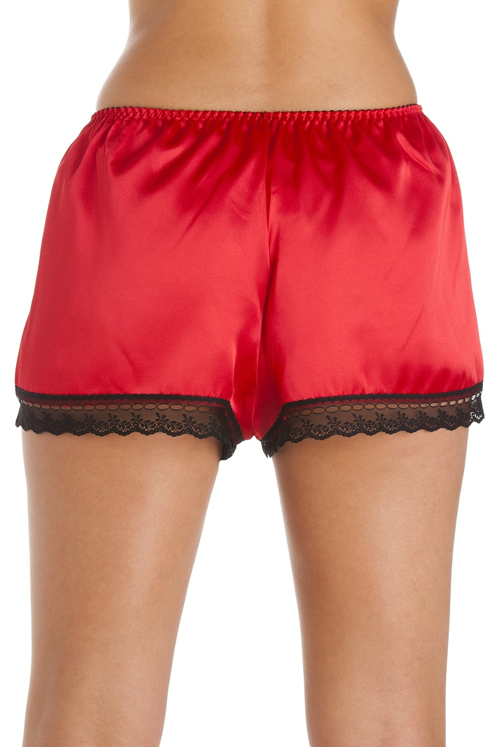Luxury Red Satin French Knicker Shorts