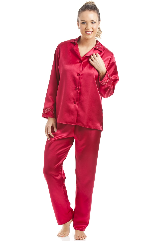 37bfe40324665 Luxury Red Satin Pyjama Set