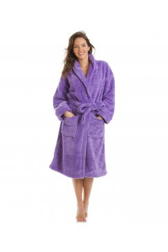 Luxury Supersoft Lilac Shawl Bathrobe