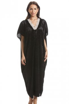 Luxury Velour Black Kaftan