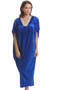 Luxury Velour Royal Blue Kaftan