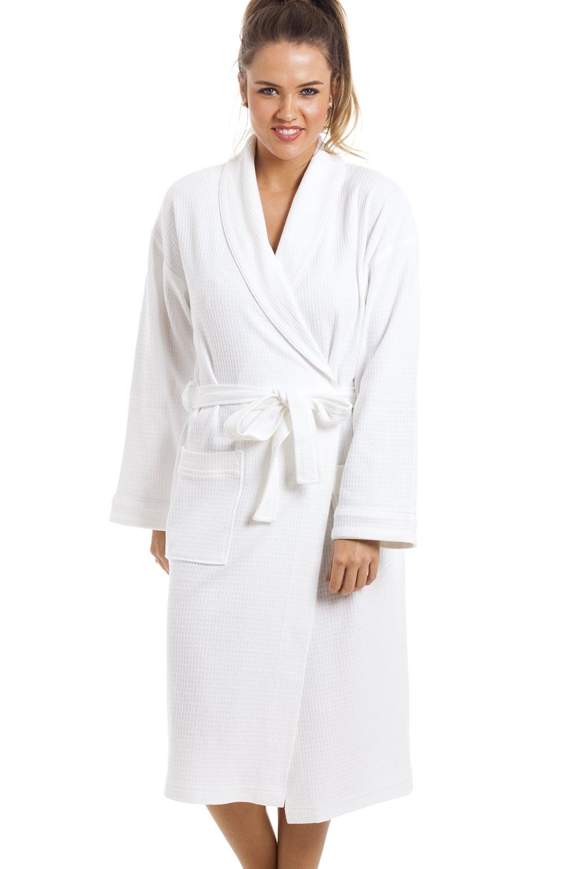 Luxury White 100 Cotton Waffle Bathrobe