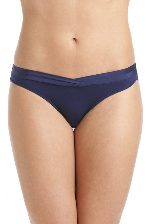 Maisie Satin Edged Navy Blue Brief