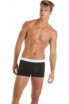 Mens Hipster Black And White Trunk Style Boxershort Underpants